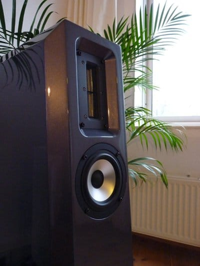 De Lentus Audio Duo met de grote bandtweeter.