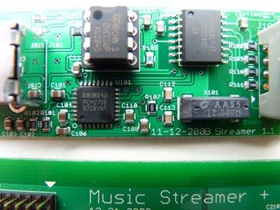 De usb-input van de Streamers. Een nette chip!