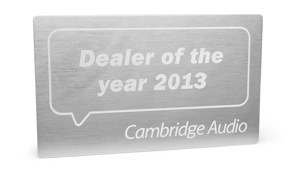 Dealer of the year plaque 2013
