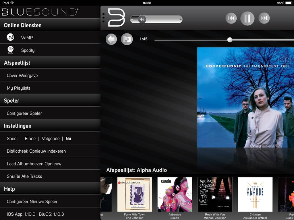 Bluesound iPad app